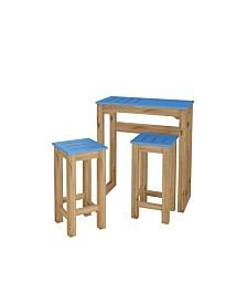 """Manhattan Comfort 3-Piece Stillwell 31.5"""" Bar Kitchen Set in Wood"""
