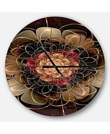 Designart Oversized Floral Round Metal Wall Clock