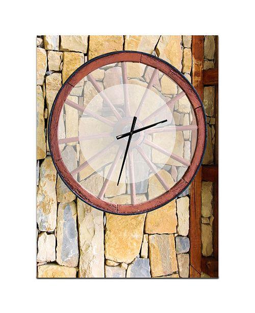 Design Art Designart Oversized Rustic Metal Wall Clock