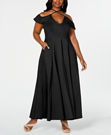 Rebdolls  Ruffle Maxi Gown by The Workshop at Macy's, Regular & Plus Sizes