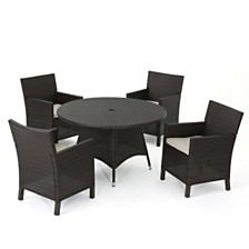 Cypress Outdoor 5-Pc. Dining Set, Quick Ship