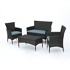 Malta Outdoor 4-Pc. Chair Set, Quick Ship