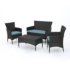 Malta Outdoor 4-Pc. Chair Set, Quick Ship