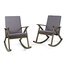 Gus Outdoor Rocking Chair (Set of 2)