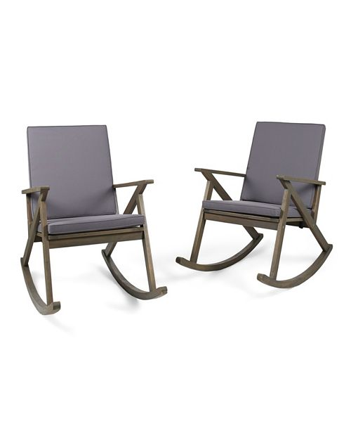 Cool Furniture Gus Outdoor Rocking Chair Quick Ship Set Of 2 Short Links Chair Design For Home Short Linksinfo