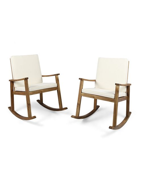 Furniture Candel Outdoor Rocking Chair, Quick Ship (Set of 2)