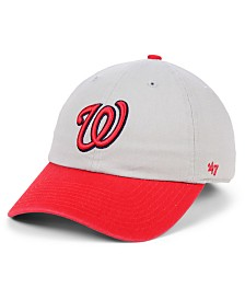 '47 Brand Washington Nationals Gray 2-Tone CLEAN UP Cap