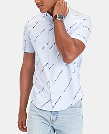 Men's Big and Tall Custom Fit Logo Oxford Shirt, Created for Macy's