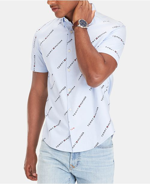 Tommy Hilfiger Men's Logo Oxford Shirt, Created for Macy's
