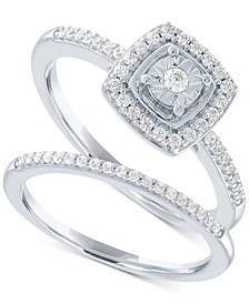 Diamond Bridal Set (1/4 ct. t.w.) in Sterling Silver