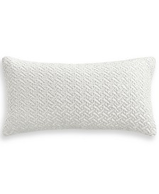 "Hotel Collection Classic Botanical 12"" x 24"" Decorative Pillow, Created for Macy's"