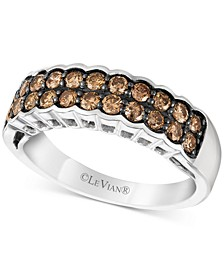 Chocolatier® Chocolate Diamond® Statement Ring (5/8 ct. t.w.) in 14k White Gold