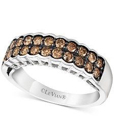 Le Vian Chocolatier® Chocolate Diamond® Statement Ring (5/8 ct. t.w.) in 14k White Gold