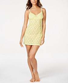 Adore Semi-Sheer Lace Babydoll Chemise Nightgown, Online Only