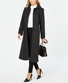 Jones New York Single-Breasted Maxi Coat