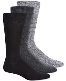 Steve Madden Men's 3-Pk. Marled Crew Socks