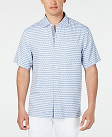Men's Giovanni Dash-Print Shirt