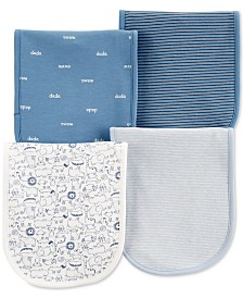 Carter's Baby Boys 4-Pack Burp Cloths