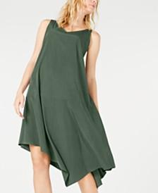 Eileen Fisher Tencel® Blend Asymmetrical Dress, Regular & Petite