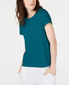 Eileen Fisher Organic Cotton Crewneck T-Shirt, Regular & Petite