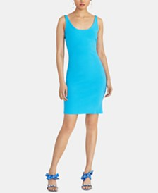RACHEL Rachel Roy Lark Sleeveless Cross-Back Bodycon Dress