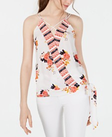 Crave Fame Juniors' Floral-Print Tank Top