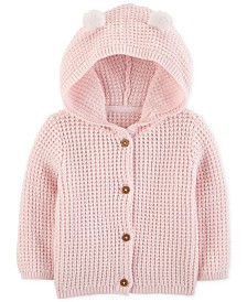 Carter's Baby Girls Hooded Cardigan Sweater with 3D Ears
