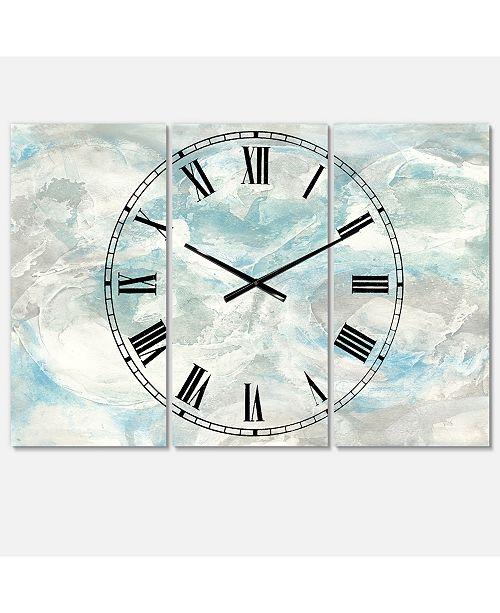 Design Art Designart Nautical and Coastal 3 Panels Metal Wall Clock
