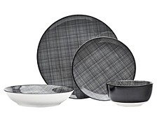 Varik 16-PC Porcelain Dinnerware Set, Service for 4
