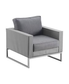 Elle Decor Tropez Outdoor Mesh Arm Chair, Quick Ship