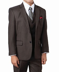 Tazio Tonal Stripe 2 Button Front Closure Suits Boys Suit, 5 Piece