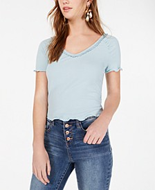 Juniors' Tie-Back Crochet Crop Top, Created for Macy's
