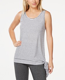 Ideology Striped Side-Tie Tank Top, Created for Macy's
