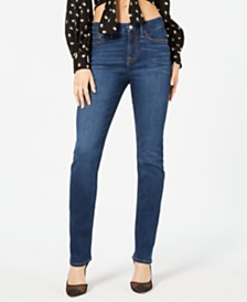 Jen7 by 7 For All Mankind Slim-Fit Straight-Leg Jeans
