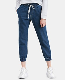 Jet Set Cotton Denim Jogger Pants