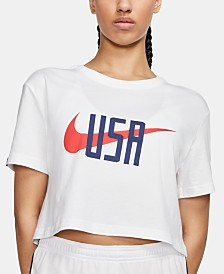 Nike Cotton Logo Cropped T-Shirt