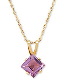 "Amethyst 18"" Pendant Necklace (3/8 ct. t.w.) in 14k Gold"