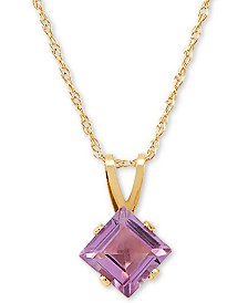 "Amethyst 18"" Pendant Necklace (1 ct. t.w.) in 14k Gold"
