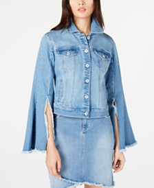 I.N.C. Flare-Sleeve Jean Jacket, Created for Macy's
