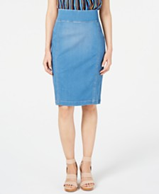 I.N.C. INCFinity Jean Pencil Skirt, Created for Macy's