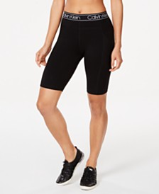Calvin Klein Performance Logo-Waistband Bike Shorts