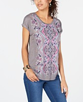 9a937134d6a Style & Co Graphic-Print Dolman-Sleeve Top, Created for Macy's