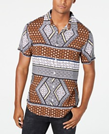 GUESS Men's Rogan Geo-Print Shirt