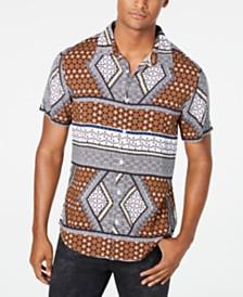 GUESS Men's Rogan Geo-Print Shirt
