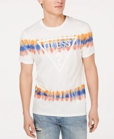 Men's Tie-Dyed Stripe Logo Graphic T-Shirt