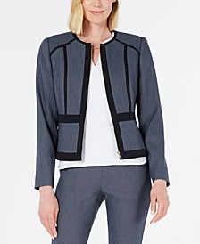 Geo-Print Zip-Up Jacket