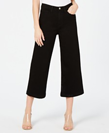 Flying Monkey Cropped Wide-Leg Jeans