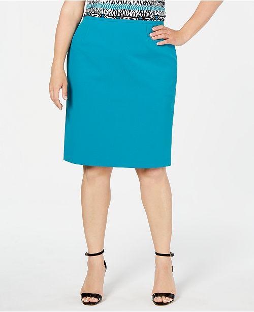 Calvin Klein Plus Size Pencil Skirt & Reviews - Skirts - Women ...