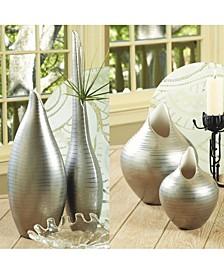 Platinum Stripe Vase Medium