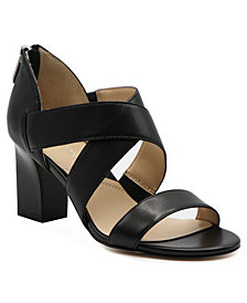 Adrienne Vittadini Rowsey Cross Band Sandals